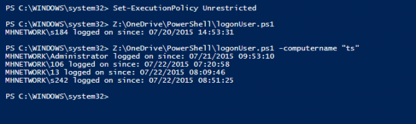 PowerShell - get logon user on remote computer