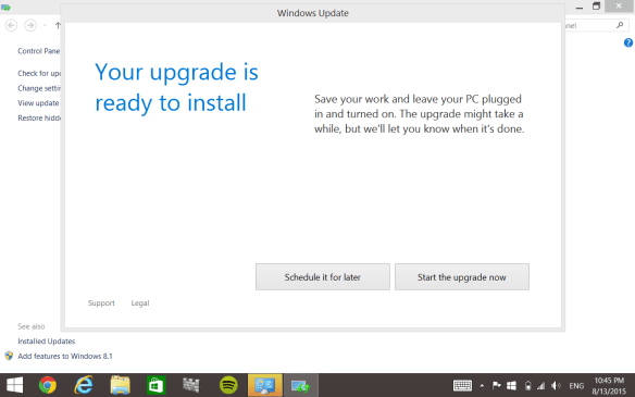Ready to Upgrade to Windows 10