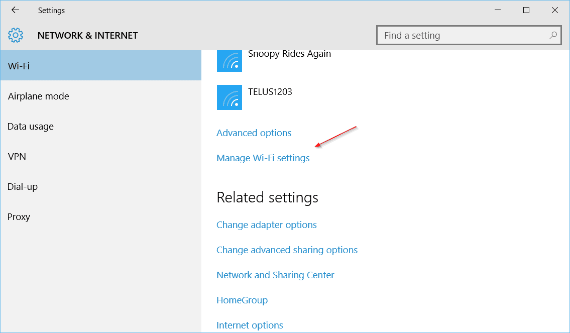 windows how to forget wifi network