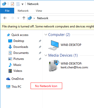 Windows 10 File Explorer without Network