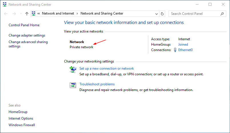 How To Switch Network Between Public and Private in Windows 8.1 and