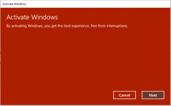 Activate Windows 10 with previous version of Windows Key