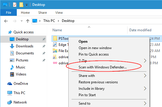 Windows 10 - Scan with Windows Defender from Context Menu.png