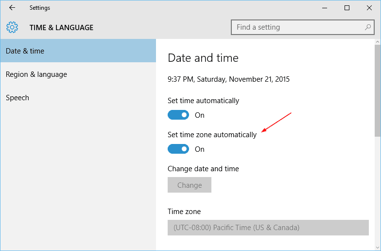 Windows 10 Tip: How To Enable Time Zone Automatically - Next of Windows