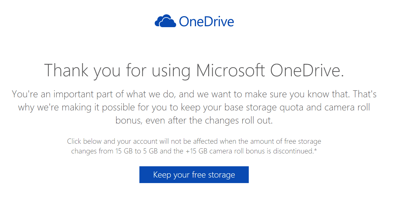 Onedrive free space