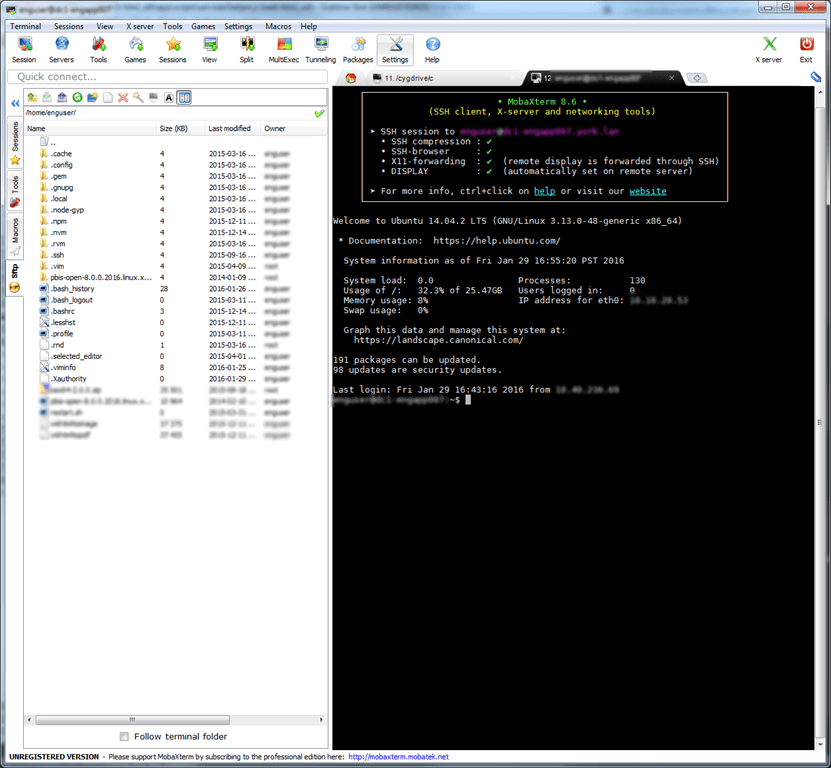 windows ssh to linux