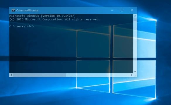 Windows 10 - Transparent Command Prompt