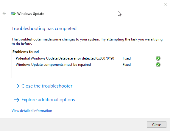 Windows Update Troubleshoot