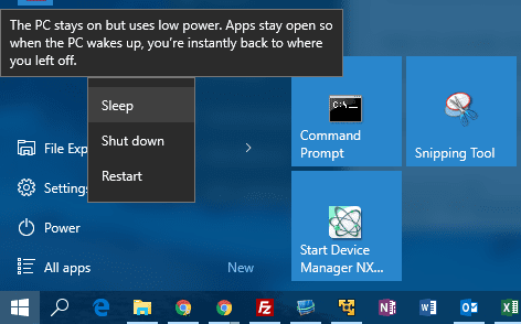 Windows 10 Tip: How To Put Computer in Sleep Mode from