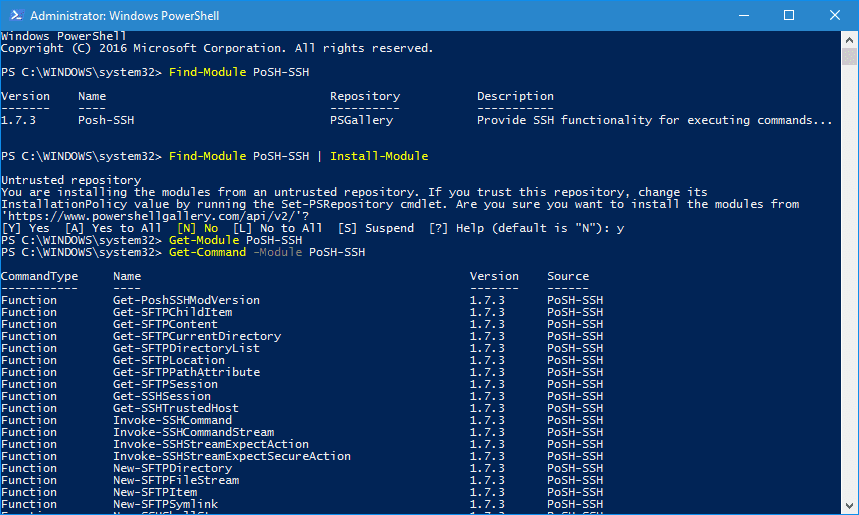 windows powershell ssh-keygen