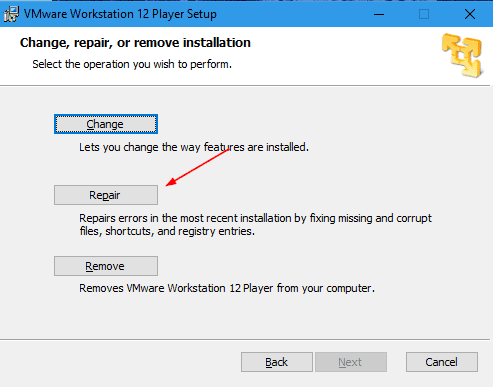 VMware Player installation