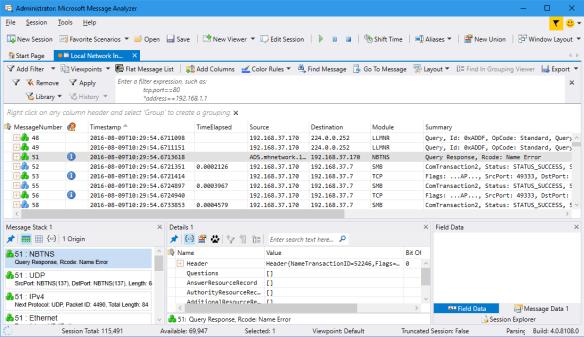 Administrator_ Microsoft Message Analyzer