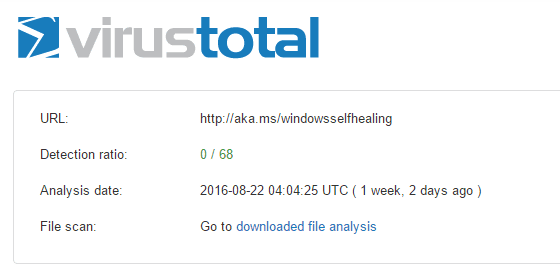 VirusTotal - Microsoft Software Repair Tool