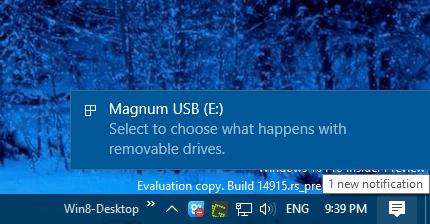 Windows 10 - notification