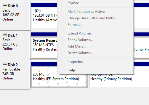How To Delete EFI Partition From USB Drive - Next of Windows