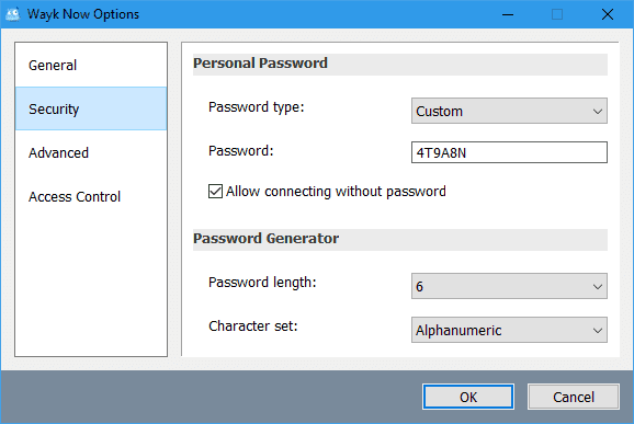 wayk-now-options-security