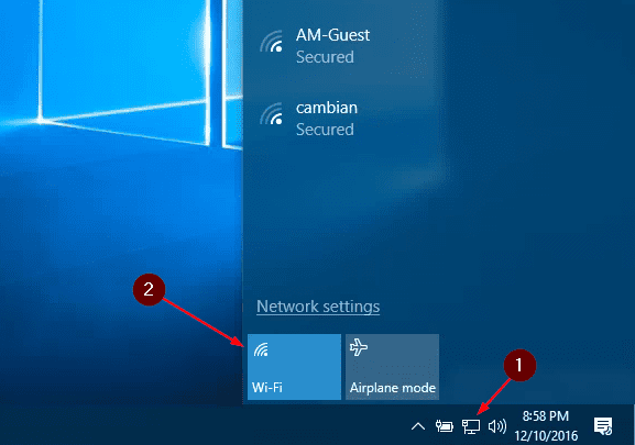 Windows 10 WiFi on and off - Windows 10 Tip: How To Schedule to Turn On WiFi Connection Automatically