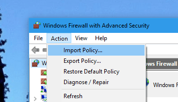 Windows Firewall Action Import Policy - How To Export and Import Windows Firewall Policy in Windows 10