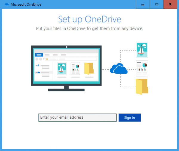 Microsoft OneDrive sign in 600x504 - How To Change Default OneDrive File Location on Windows 10