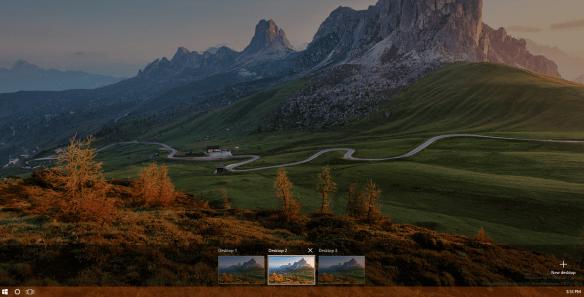Windows 10 Desktop with Spotlight image 600x305 - How To Set Spotlight Lock Screen Image as Wallpaper on Windows 10 Desktop