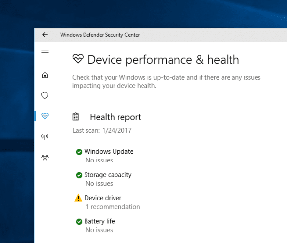 Windows Defender Security Center device health 600x509 - Windows 10 Tip: What is Windows Defender Security Center