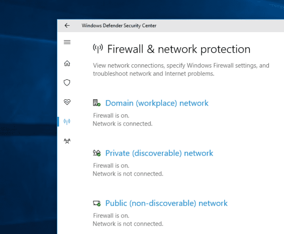 Windows Defender Security Center network security 600x494 - Windows 10 Tip: What is Windows Defender Security Center