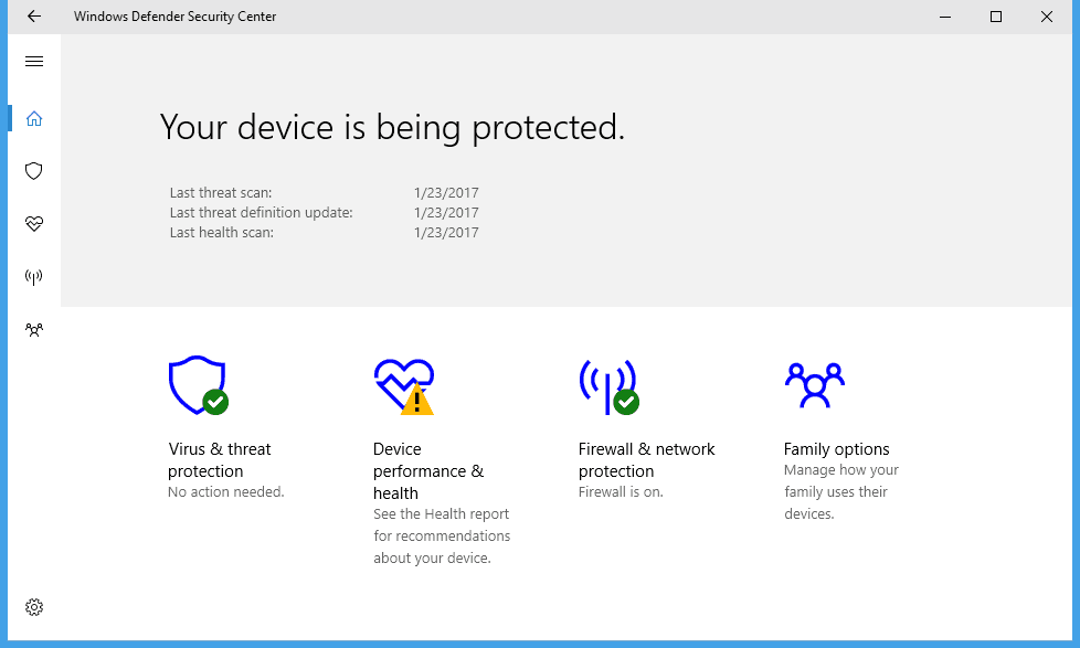 Windows 10 Tip: What is Windows Defender Security Center