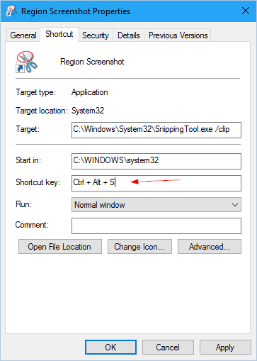 snippingtool shortcut key - How To Capture a Region of Your Screen Natively in Windows 10