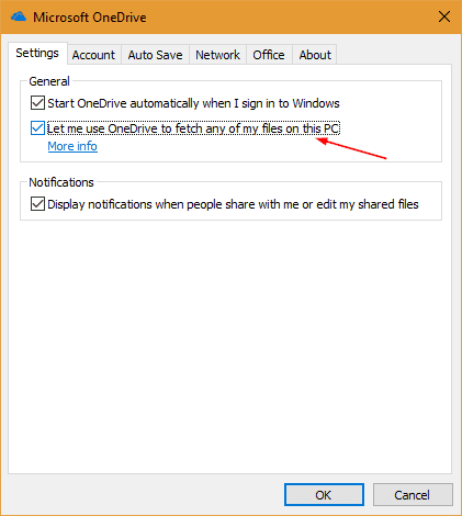 Microsoft OneDrive settings let me fetch files - How To Enable and Use Fetch Files Feature in OneDrive to Access All Your Files Remotely