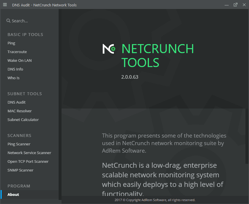 NetCrunch Tools 2 0 - Essential Network Toolkit for Windows
