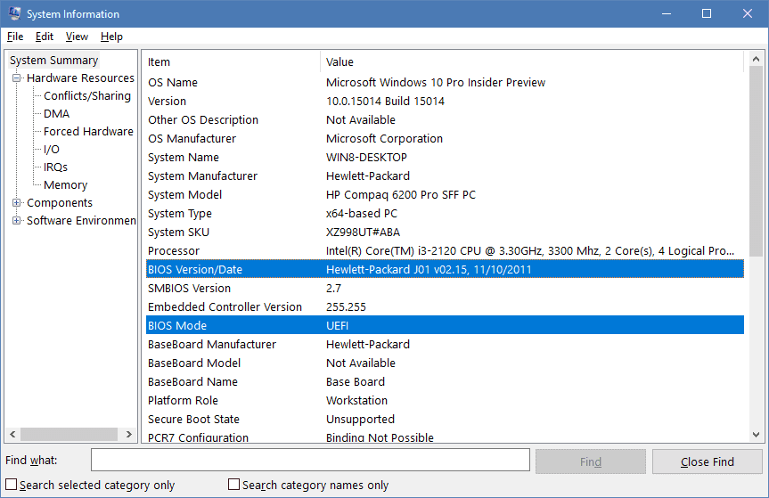 find computer serial number windows 7