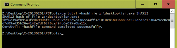 Command Prompt certutil 600x165 - 5 Ways to Generate and Verify MD5 SHA Checksum of Any File in Windows 10