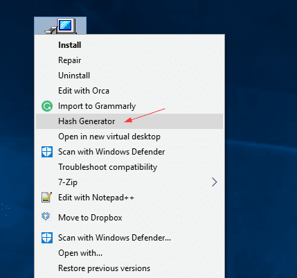 Hash Generateor from Context Menu - 5 Ways to Generate and Verify MD5 SHA Checksum of Any File in Windows 10