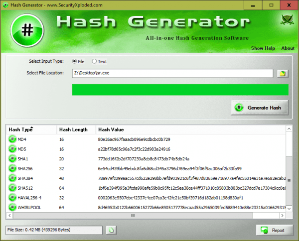 Hash Generator www.SecurityXploded.com  600x484 - 5 Ways to Generate and Verify MD5 SHA Checksum of Any File in Windows 10