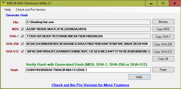 MD5 SHA Checksum Utility 2.1 600x297 - 5 Ways to Generate and Verify MD5 SHA Checksum of Any File in Windows 10