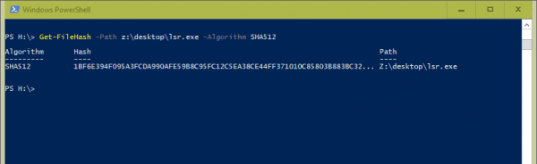 Windows PowerShell Get FileHash 600x184 - 5 Ways to Generate and Verify MD5 SHA Checksum of Any File in Windows 10