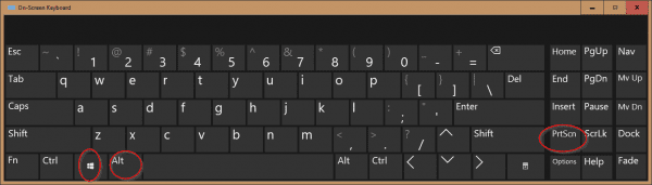On Screen Keyboard Win Alt PrnScn 600x171 - Windows 10 Tip: Use Win+Alt+PrtScn Hotkey to Take Screenshot of A Specific Program
