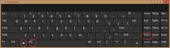 On Screen Keyboard Win Alt PrnScn 600x171 - Windows 10 Tip: Use Win+Alt+PrtScn Hotkey to Take Screenshot of A Specific Program