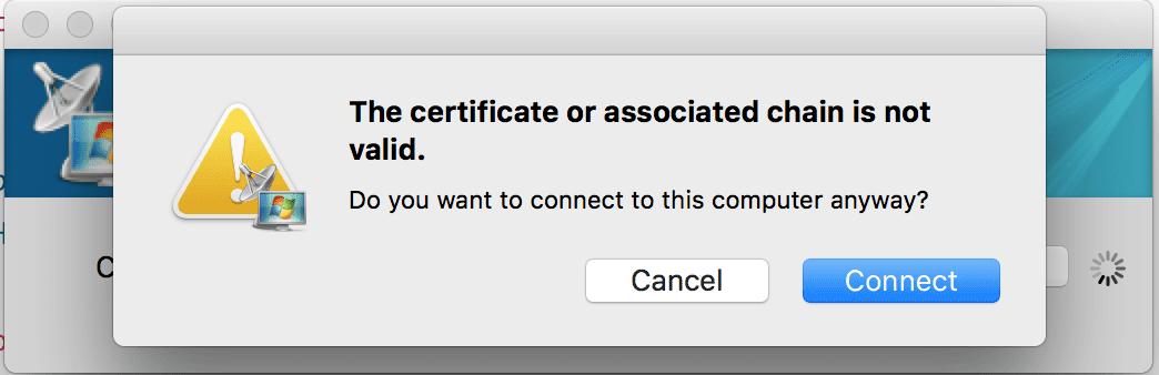 Fix Mac Remote Desktop Connection Client \