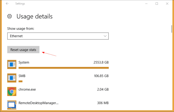 Settings Data Usage Reset Usage Stats 600x388 - Windows 10 Tip: How To Reset Data Usage to Start Fresh