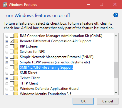 Windows Features remove SMBv1 - What Windows Patches Needed to Prevent WannaCry Ransomware