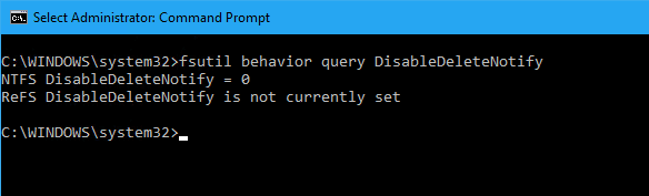 fsutil disabledeletenotify disabled - What is TRIM and How To Check and Enable it on Windows 10