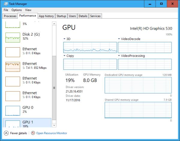 Task Manager Performance GPU multiple engines mode - Windows 10 New Feature: Tracking GPU Usage Performance