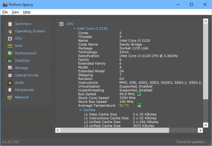 Piriform Speccy - CPU