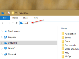 File Explorer - cmd on the address bar