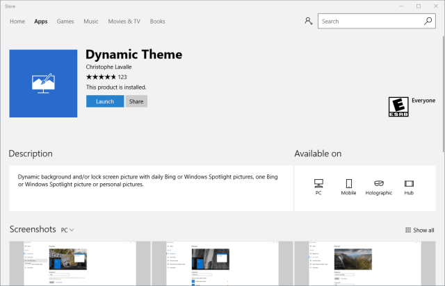 Store - Dynamic Theme