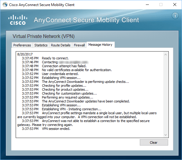 cisco anyconnect secure mobility client windows firewall