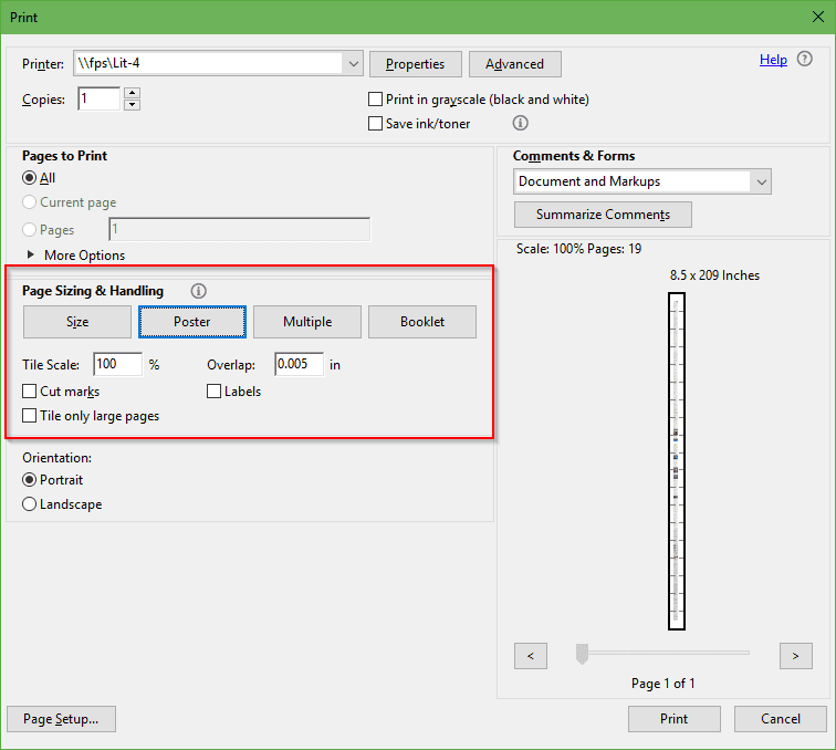 Adobe PDF Tip: How To Print Large Posters Across Multiple