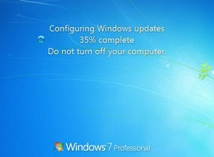 Configuring windows update 35% complete