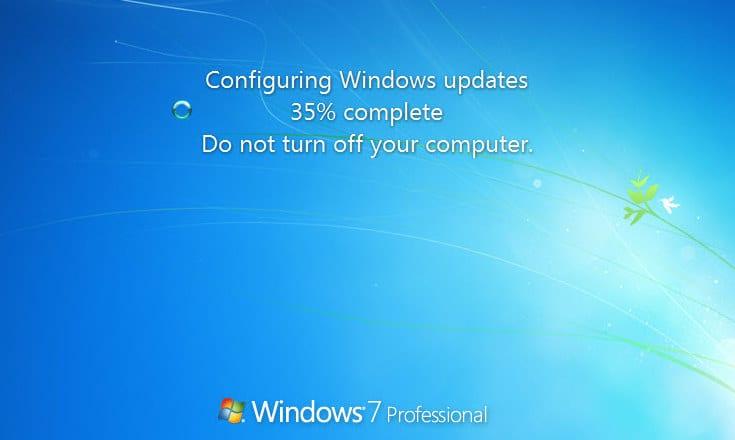 windows 7 stuck on updates 35